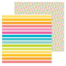 5961: cabana stripe double-sided cardstock