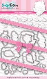 Snijmallen CDJD-0002  Valentine kisses - door Jocelijne Design
