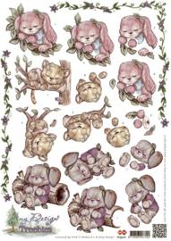 3D Knipvel - Amy Design - Treebies Slapen HJ9301