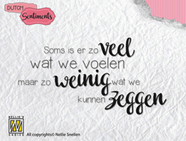 Nellie Snellen - Clear stamp DutchSentiments - Soms is er zoveel wat we 83x35 mm