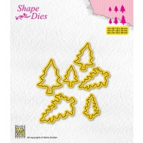 """Shape dies collections of mini dies """"pinetrees-2"""" SD211"""