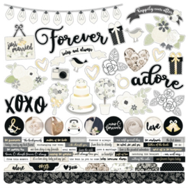 Simple Stories - Always & Forever - Combo Cardstock Stickers 10059