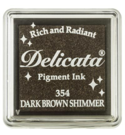 Delicata Dark Brown Shimmer Small Inkpad DE-SML-354