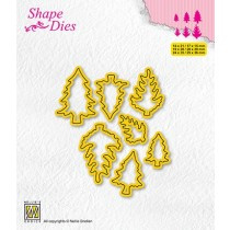 """Shape dies collections of mini dies """"pinetrees-1"""" SD210"""