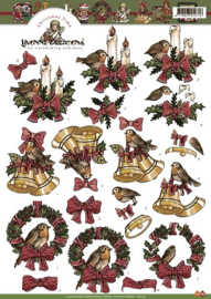 3D Knipvel - Yvonne Creations - Christmas time - CD10159