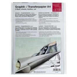 Grafietpapier zwart A4 5 vel