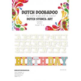 Dutch Doobadoo Dutch Stencil Art Alfabet A-Z (80 x 80 mm)