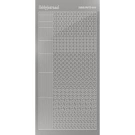 Hobbydots sticker - Mirror - Silver