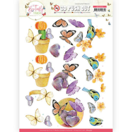 3D Push Out - SB10544 - Jeanine's Art - Butterfly Touch - Orange Butterfly
