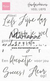 Marianne design Clear Stamps Handgeschreven - van Harte (NL) CS1050