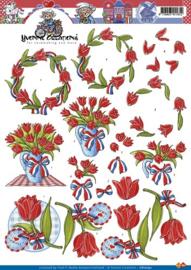 3D Knipvel - Yvonne Creations - Tulpen - CD10192