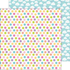 5643: princess polka-dots double-sided cardstock