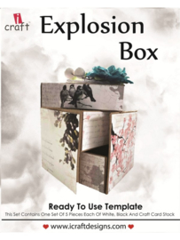 icraft - Explosion box - Ready to Use Scrapbook Template.