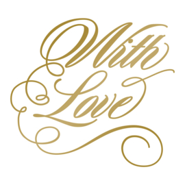 With Love Hotfoil Stamp - Size: 63.9 x 57.8mm