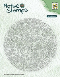 "Nellie snellen TXCS012 texture clear stamps ""Flower Power"" 80x80mm"