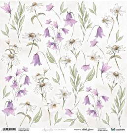 Designpapier Aquarelles Flowers 1 -  30.5x30.5 - per vel