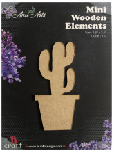 Icraft Mini wooden elements 010 (cactus)