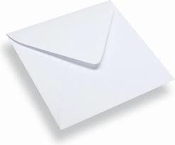 Envelop vierkant - 12,5x12,5 - Wit - 10 stuks