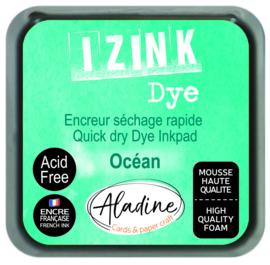 Aladine inkpad izink dye turquoise ocean