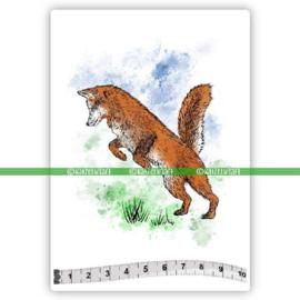 Katzelkraft - Jumping Fox - Rubber Stamp - SOLO170