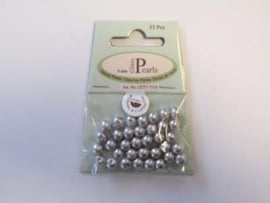 Glass Pearls, round, 6mm, Lt.Grey, 35pcs
