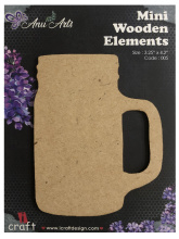 Icraft Mini wooden elements 005 (bier pul)