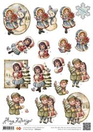 3D Knipvel - Amy Design - Christmas Girls CD10302