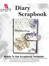 icraft -  Diary Scrapbook - Ready to Use Scrapbook Template.