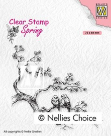 """SPCS017 Clear Stamps Spring """"spring lovers"""" 75x69mm"""