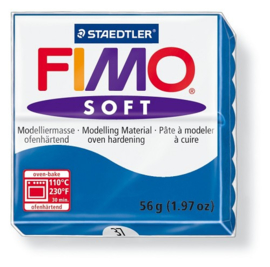 Fimo soft boetseerklei 56 g pacificblauw