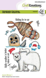 CraftEmotions clearstamps A6 - Arctic Winter 1 (Eng) Carla Creaties