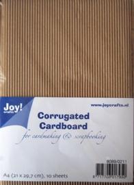 Joy! Crafts Ribbelkarton A4 10vl 8089/0211 E - flute / L