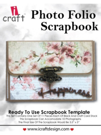 icraft - Photo Folio Scrapbook - Ready to Use Scrapbook Template.