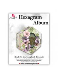 icraft - Hexagram album -black- Ready to Use Scrapbook Template.