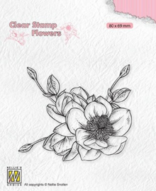 Nellie's Choice - FLO030 - Clear Stamps flowers - magnolia flower