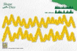 """Nellie Snellen - SD184 Shape Dies """"'Pine Forest"""" 150x58mm"""