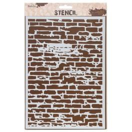 Design Sjabloon A4 stenen muur