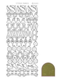 Sticker Charm Lucky - Mirror Gold