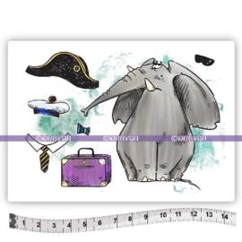 Katzelkraft - Napoleon olifant - Rubber Stamp - KTZ268