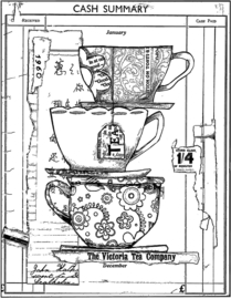 Crafty Individuals CI-547 Time for Tea Unmounted Rubber Stamps