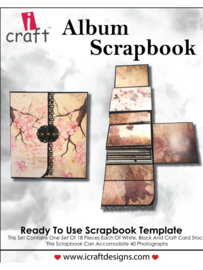 icraft - Album Scrapbook - Ready to Use Scrapbook Template.