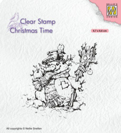 Nellies Choice Clearstempel - Christmas time - Sneeuwpop CT034 67x56mm