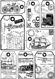 Crafty Individuals CI-428 It's a Man's World Unmounted Rubber Stamps