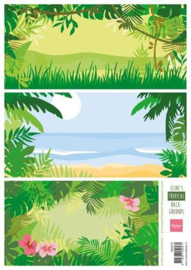 Marianne D 3D Knipvellen Eline's tropical backgrounds AK0070