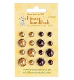 Leane Creatief - Jewel Breads - yellow & brown