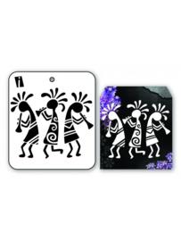 iCraft - Mini stencil - fluitende poppetjes - I-8930