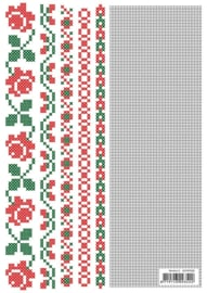 "CCPAT028 Crosscraft free pattern-28 ""borders-2"" patronen"