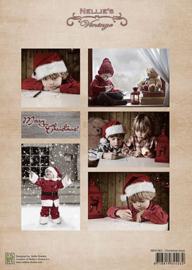 "NEVI063vintage ""Christmas boys"""