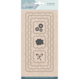 Card Deco Essentials - CDECD0103 -  Slimline Dies - Slimline Buttons
