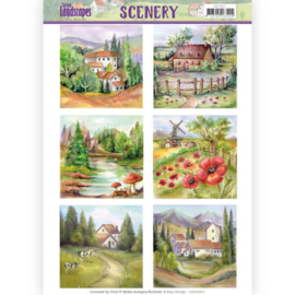 Die Cut Topper - Scenery Amy Design - Spring Landscapes 2  3D div. CDS10011